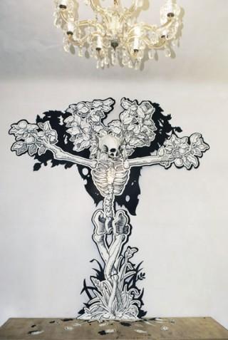 Illustration und Cutout für die offenen Ateliers in Köln-Ehrenfeld