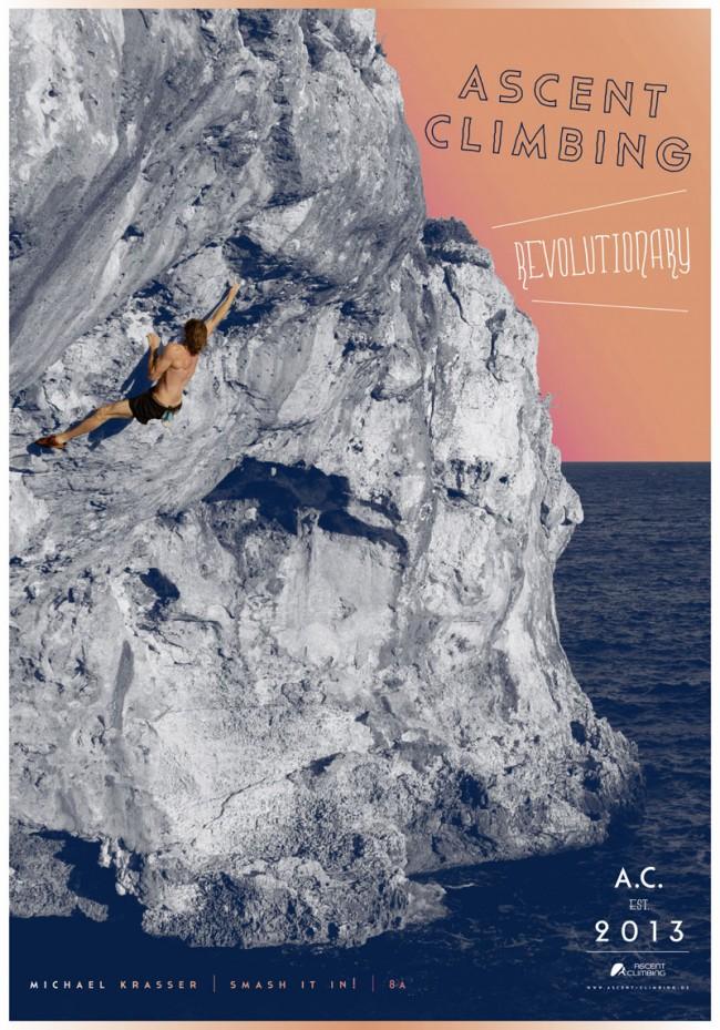 Plakatgestaltung für Ascent Climbing