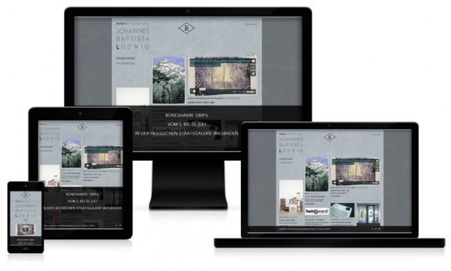 Webdesign der eigenen Studioseite
