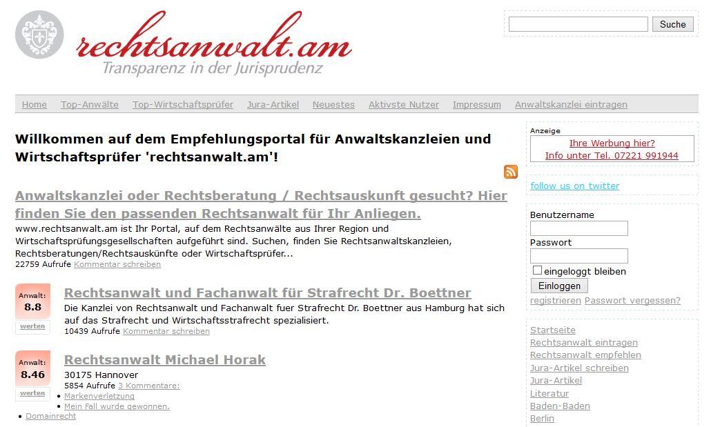 rechtsanwalt.am_screenshot