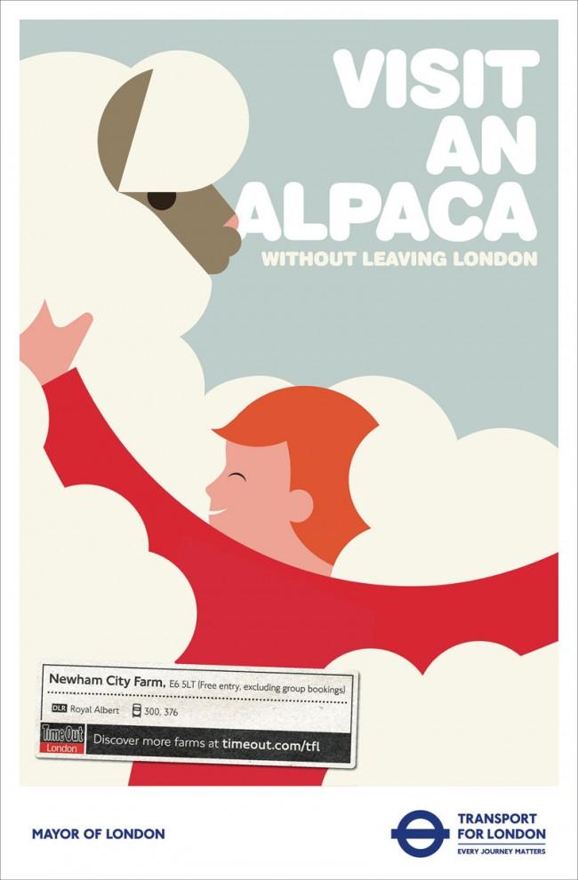 Die Londoner Verkehrsbetriebe bieten immer wieder schöne Jobs für Illustratoren. Hier eine Kampagne von M&C Saatchi, die zu Entdeckungsfahren in London einlud. Hier war Illustrator Rob Bailey am Werk.