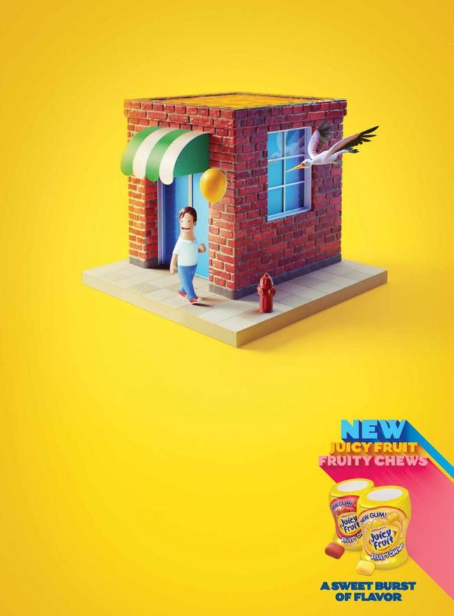 Estilo aus Buenos Aires schuf sympathische Inseln des Wohlbefindens für diese Kampagne von DDB Chicago. www.behance.net/estilo3d