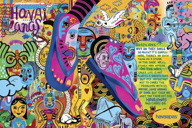 Die Gummilatschen-, äh Verzeihung Flipflop-Marke Havaianas hat schon oft preisgekrönte Werbung abgeliefert. Diesmal brachte AlmapBBDO aus São Paulo den Illustrator Pirecco zum Einsatz. www.pirecco.com