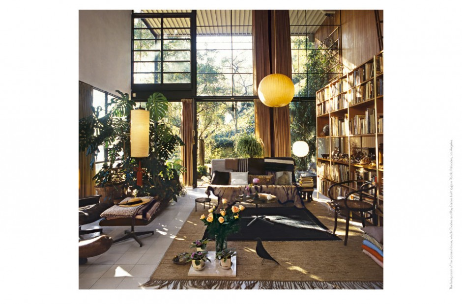 The living room of the Eames House, which Charles and Ray Eames built 1949 in Pacific Palisades, Los Angeles