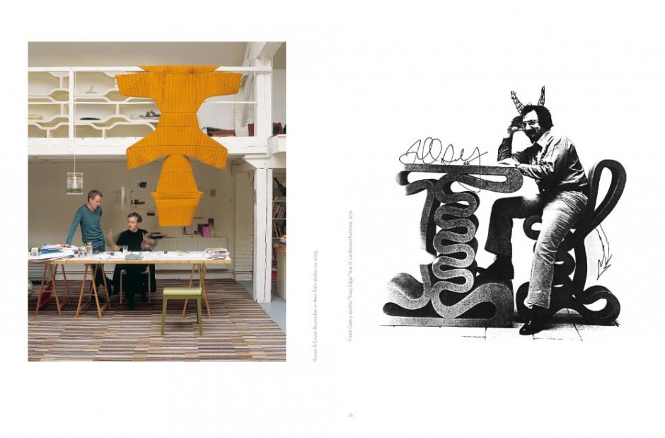 Ronan & Erwan Bouroullec in their Paris studio, ca. 2005. Frank Gehry and his »Easy Edge« line of cardboard furniture, 1972.