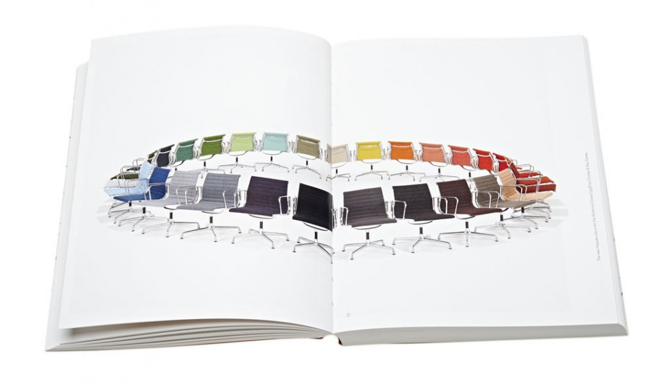 The New Hopsack colours for the Aluminium Group (1958) by Charles & Ray Eames