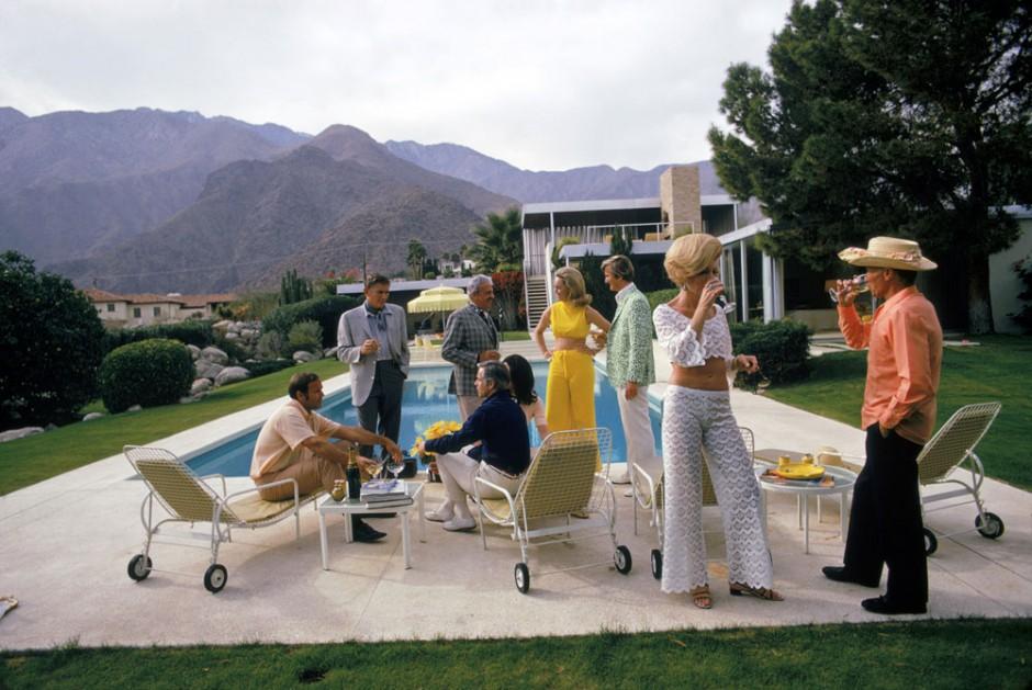 Slim Aarons | Das berühmte Desert House in Palm Springs, entworfen von Richard Neutra für Edgar Kaufmann, 1970, 38,7 x 58,5 cm