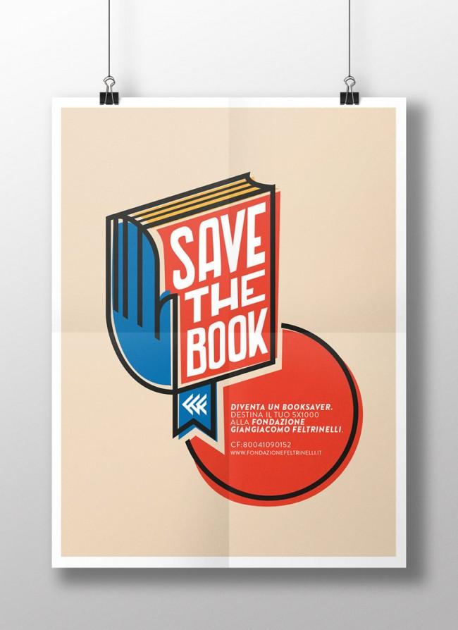 Logo »Save the book« für Fondazione Giangiacomo Feltrinelli