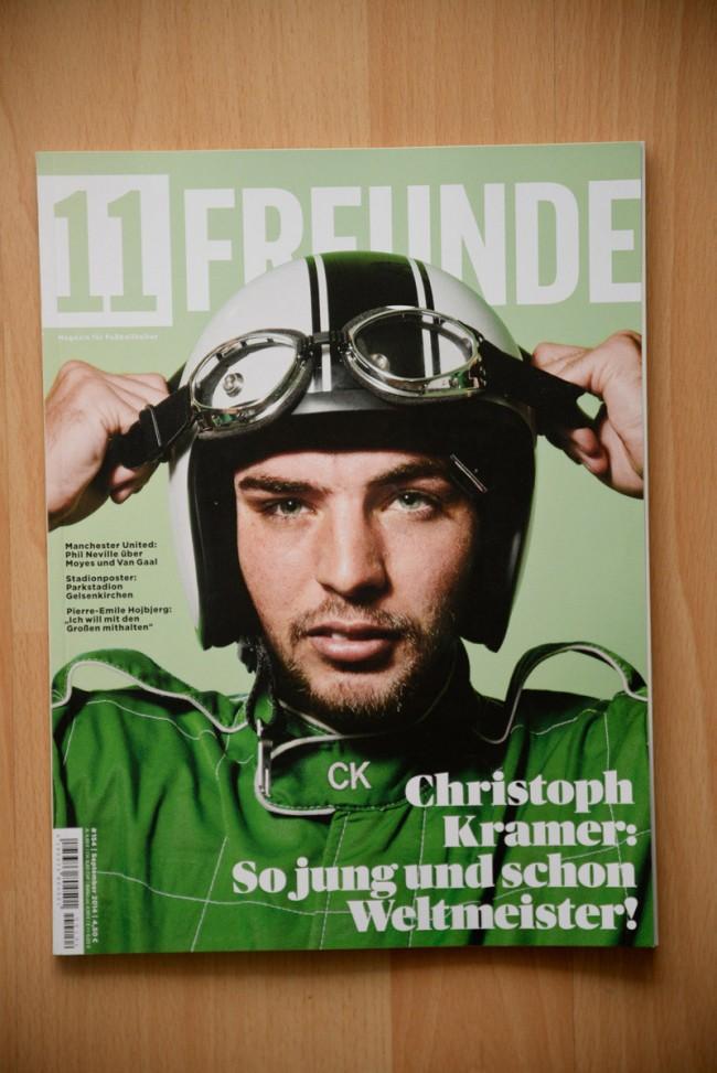 Cover und Editorial für 11 Freunde mit Christoph Kramer