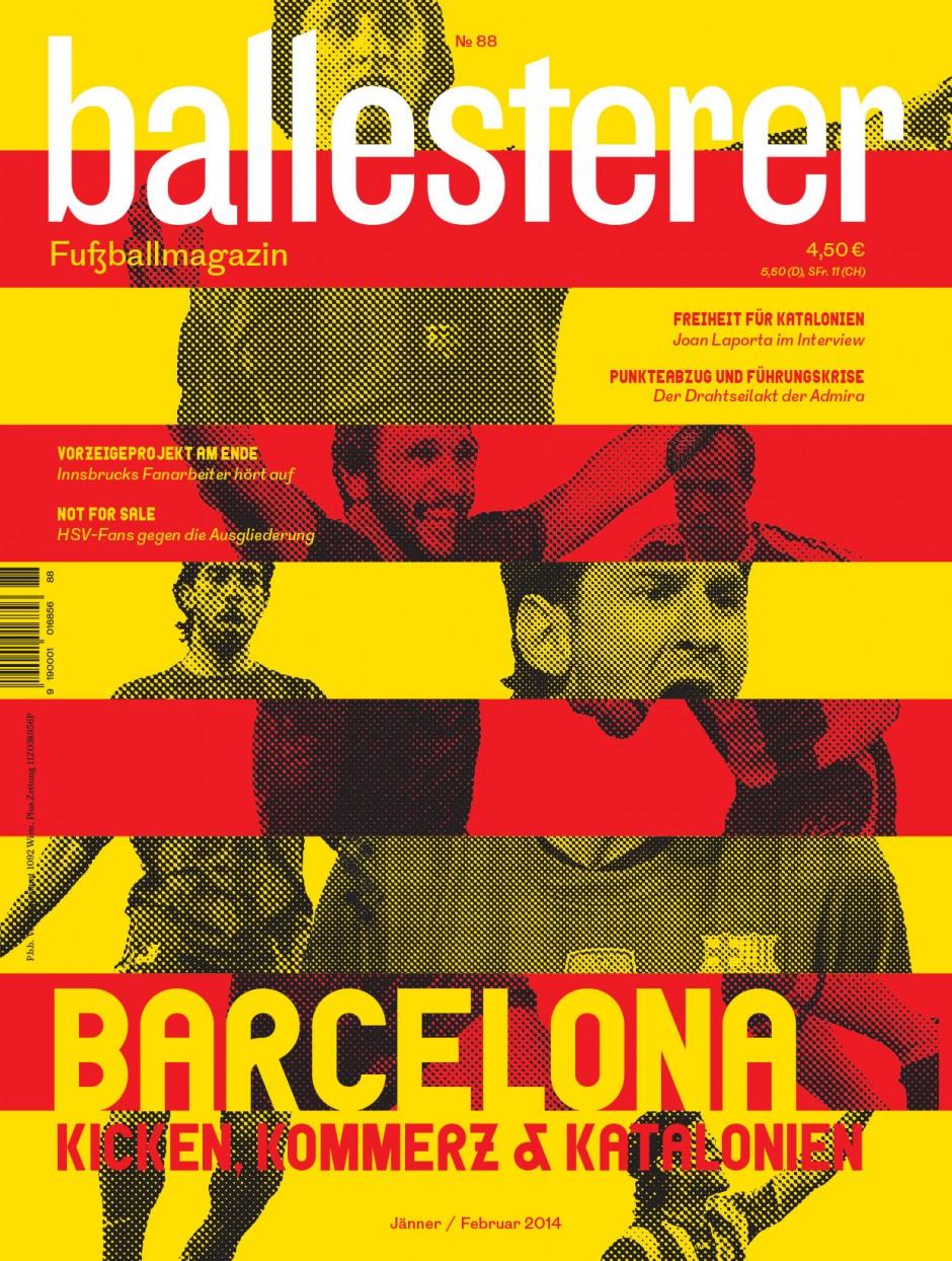 Ballesterer No. 88 | Design für das einzige österreichische Fußballmagazin. Gemeinsam mit Manuel Radde.  2013 – laufend