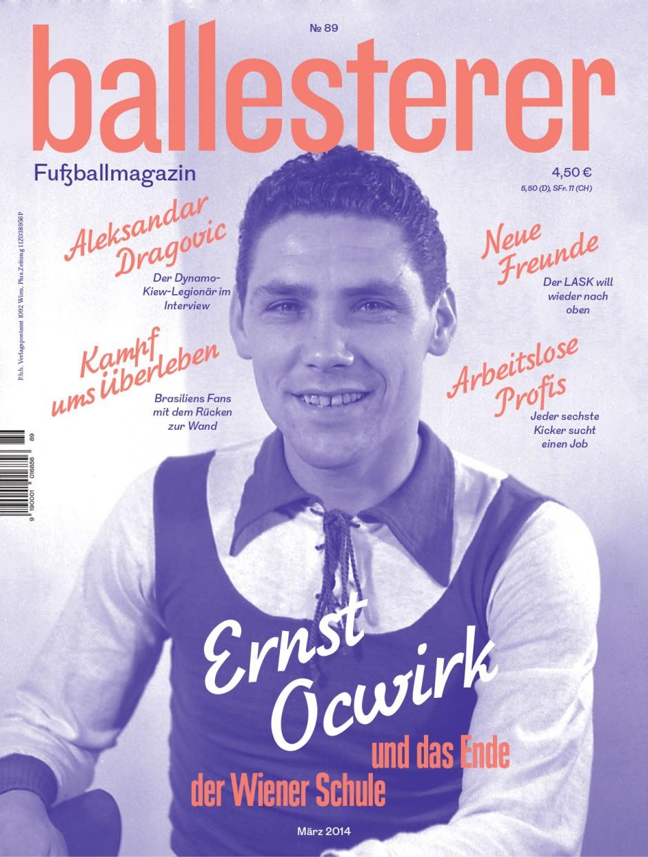 Ballesterer No. 89 | Design für das einzige österreichische Fußballmagazin. Gemeinsam mit Manuel Radde.  2013 – laufend