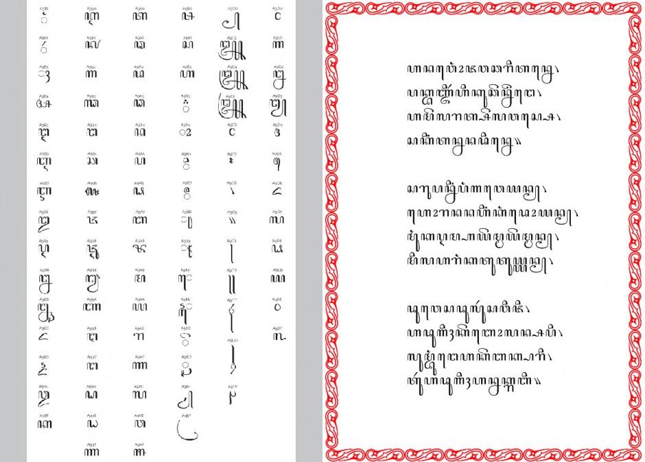 Bereits im Jahr zuvor hatte er sich in Den Haag mit javanischer Schrifttradition beschäftigt und auf Abis umfangreicher Recherche eine digitale Version der »Nieuw Javaansch No.1« von der Lettergieterij Amsterdam aus dem Jahre 1919 entworfen.