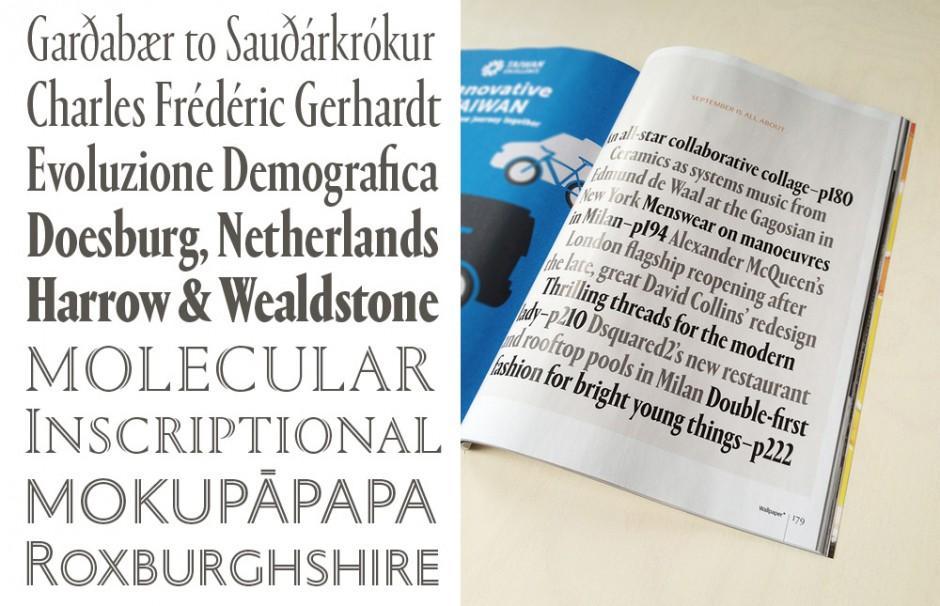 Von 2008 bis 2009 besuchte Dan Milne den Type and Media Master-Kurs in Den Haag, wo er den Font »Tasman« entwarf. Inzwischen entwickelt er mit seinem Büro Typelab in Melbourne vor allem kundenspezifischen Schriften fürs Editorial-Design wie die Darbi Sans oder hybride Portrait (auch als Condensed- und Inline-Schnitte).