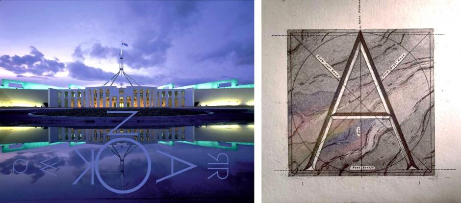 Australiens Designlegende Garry Emery gelang in den frühen Achtzigern sein Karrieredurchbruch mit einem typografischen Orientierungssystem für das neugebaute australische Parlament in Canberra.