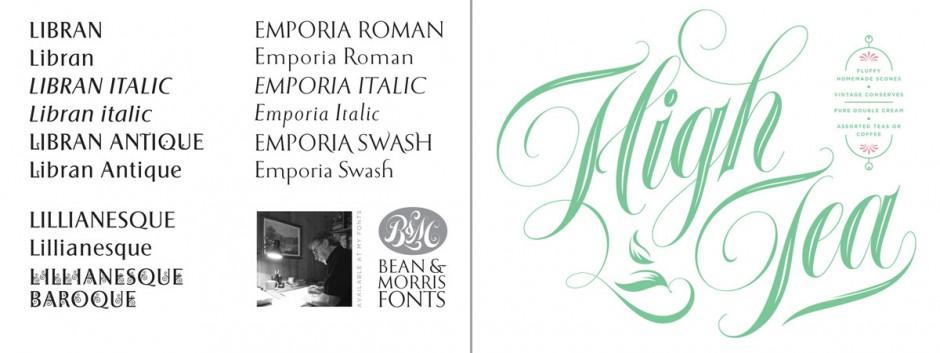 Zusammen mit dem etablierten Logo-Designer Russel Bean bringt Morris seit ein paar Jahren eigene Schriftkreationen unter dem Label »Bean & Morris Fonts« heraus.