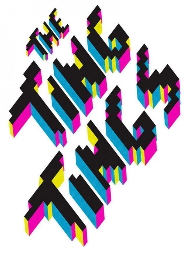 Die von den Philippinen stammenden Zwillinge Maricor und Maricar Manolo haben ein Faible für sich wiederholende Muster, Farben und Typo. Meist gehen sie ihre  illustrativen Arbeiten mit Handarbeitstechniken wie Weben oder Sticken an – verblüffend digital.