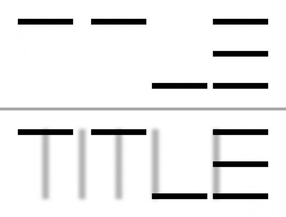 Ein Meister der seriösen Vereinfachung ist Mark Gowing. Das Logo für die Filmcompany TITLE ist an Schlichtheit kaum zu überbieten. Auch ohne den  unterstützenden Effekt der Animation ist es lesbar.