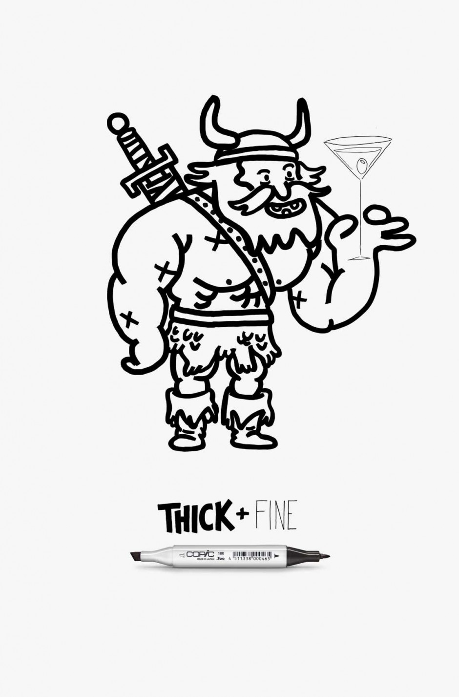 Copic Thick + Fine