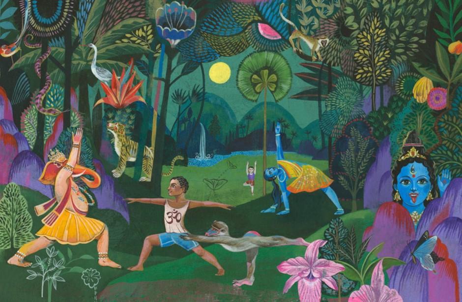 Illustrationen aus »Ein Yoga-Entdeckungsbuch« von Olaf Hajek (www.olafhajek.com)