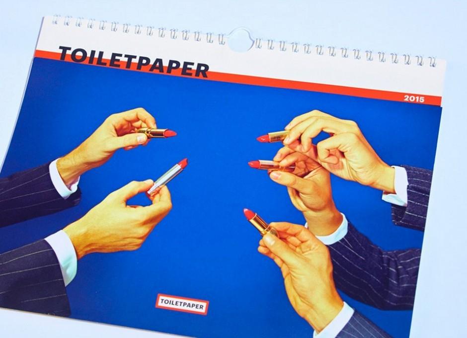 Wer »Toiletpaper« schätzt, kann sich für 2015 auch einen wunderschönen Katalog zulegen …