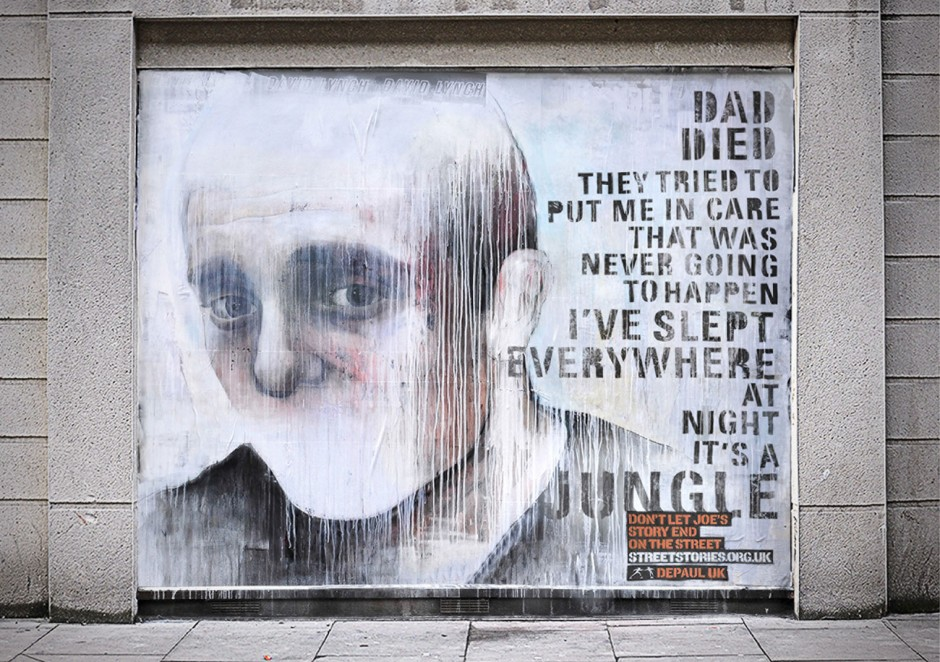 Bronze für »Street Stories« von Publicis London. Street Artists: Ben Slow, Best Ever, Josh Jeavons, David Shillinglaw. Kunde: Homeless Charity Depaul UK
