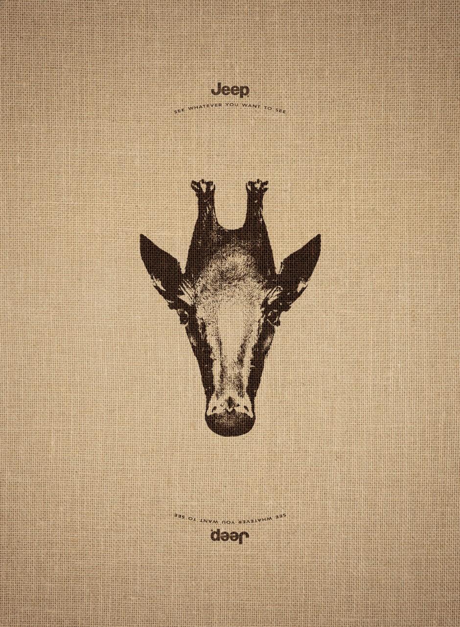 Silber für »Upside Down« von Leo Burnett France. Illustrator: Jerome Gonfond. Kunde: Jeep