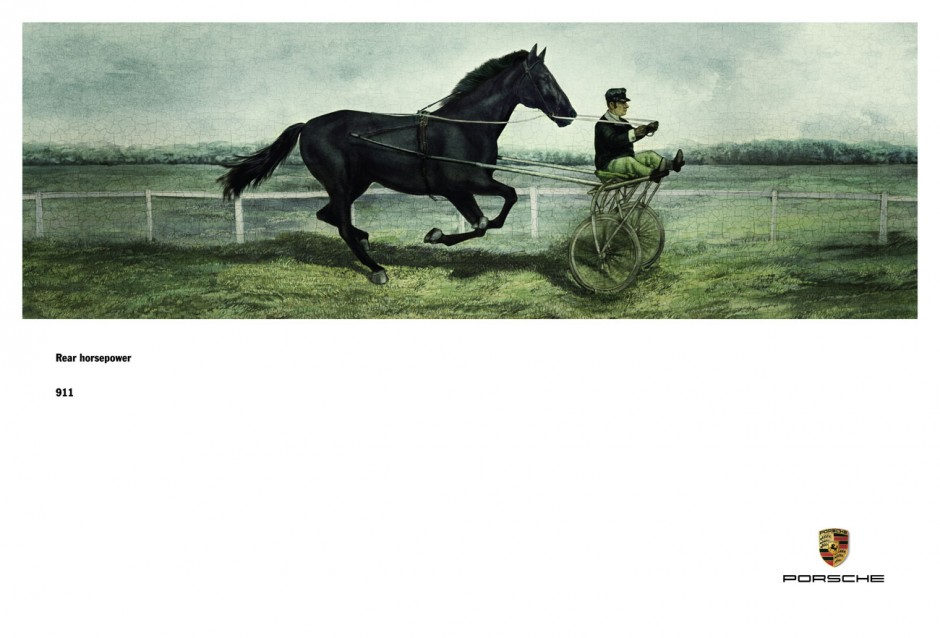 Silber für »911 Rear Horsepower« von Fred & Farid Shanghai. Illustrationen: Marc Burckhardt, Asaphz. Kunde: Porsche (China) Motors Ltd.