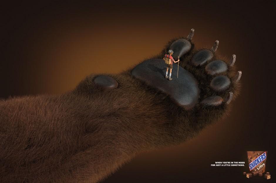 Silber für »Snickers Bites« von BBDO New York. Illustration: Un Mariachi. Kunde: Mars Chocolate North America