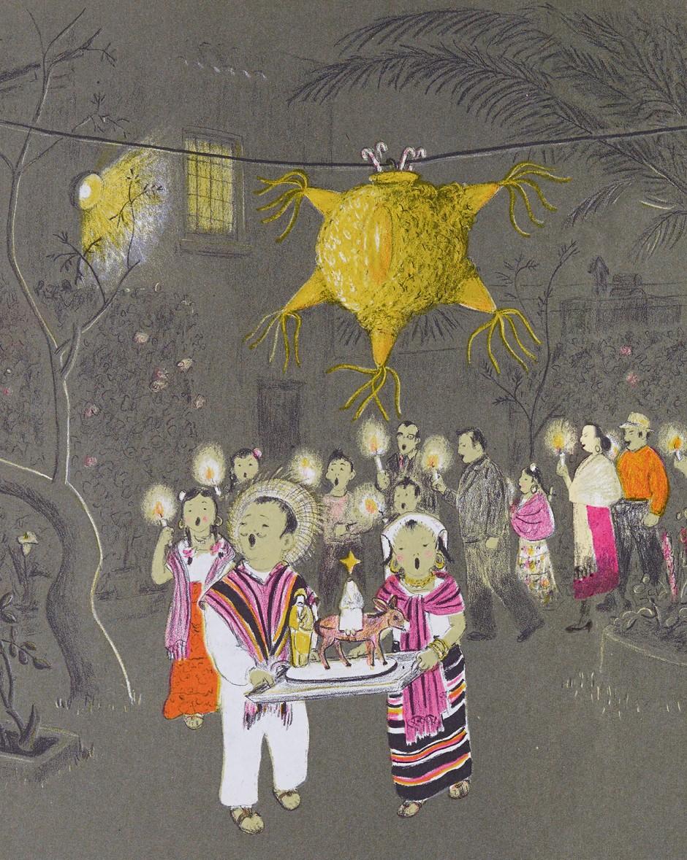 »Nine Days of Christmas« Illustration von dem amerikanischen Künstler Marie Hall Ets, 1959.