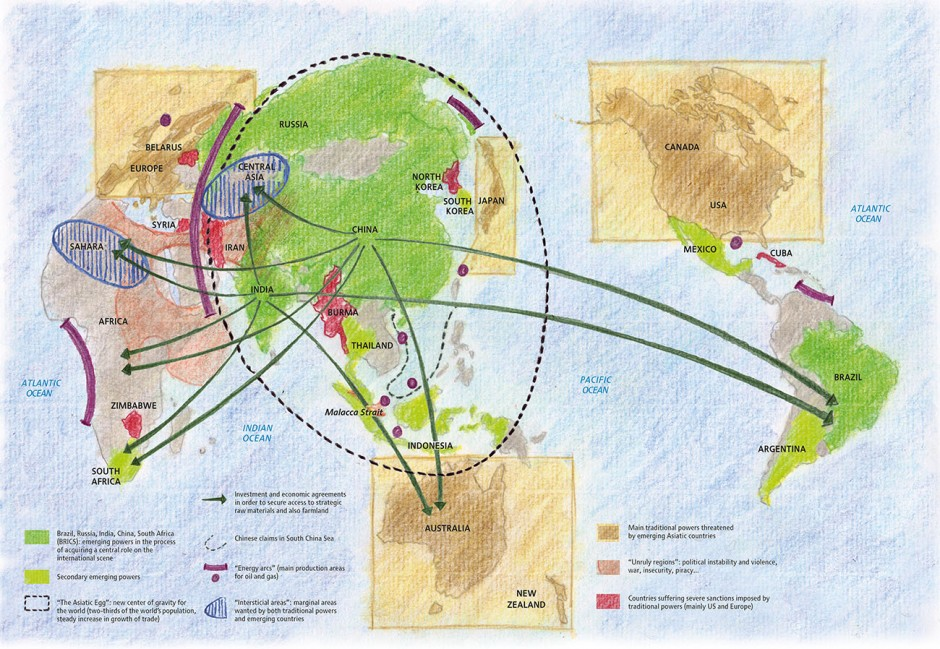 The world seen from Beijing Design: Philippe Rekacewicz Quelle: Le Monde Diplomatique Jahr: 2012