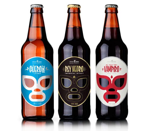 Für das mexikanische Bier »Cervecería Sagrada« zog José Guízar die Maske der Lucha Libre, der Wrestler heran, die für mexikanische Popkultur steht und auch für Kitsch