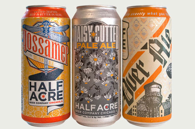 Cooles Bier aus Chicago: Half Acre Beer, gestaltet von Phineas Jones