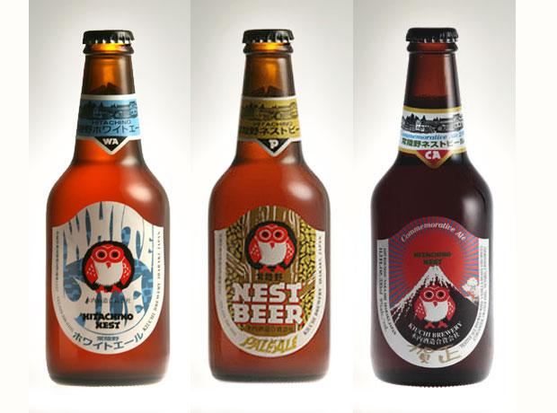 Inhouse gestaltet und Kult: das Hitachino Nest Beer aus Japan, das nach der Sake-Methode gebraut wird