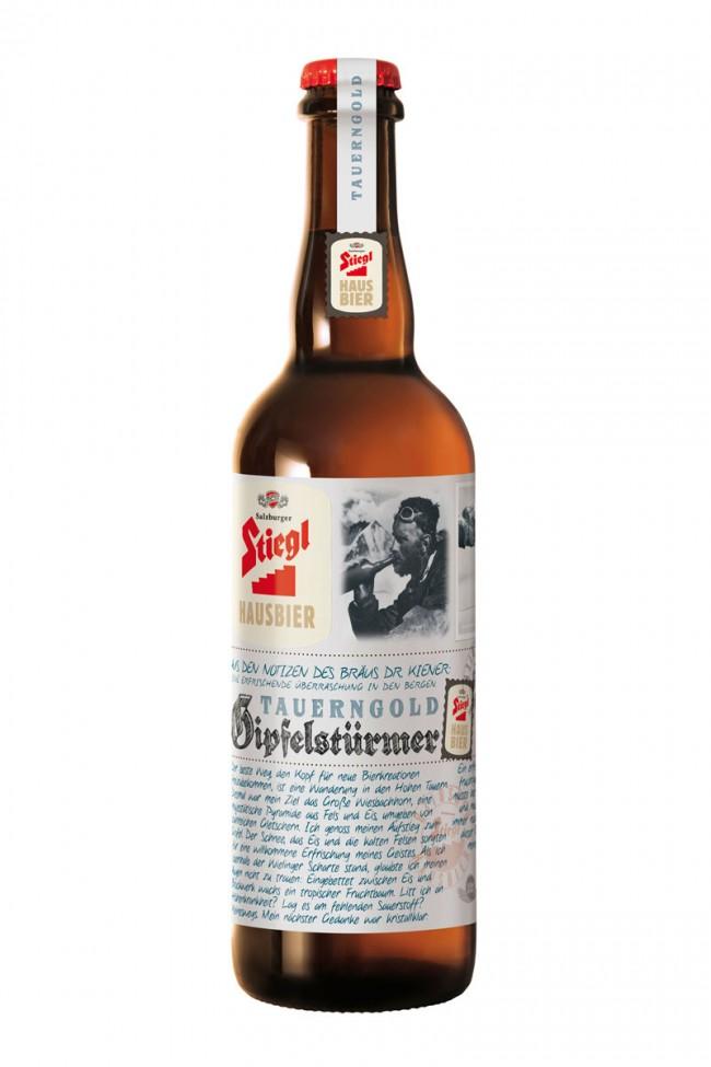 Gipfelstürmer, ein weiteres Bier-Design von Demner, Merlicek & Bergmann