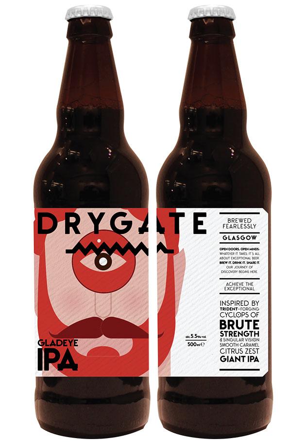 Illustrationen stehen im Mittelpunkt von Erscheinungsbild und Packaging, das D8 für das Craft Beer Drygate sowie deren Brauerei einschließlich Bierhalle entwarf
