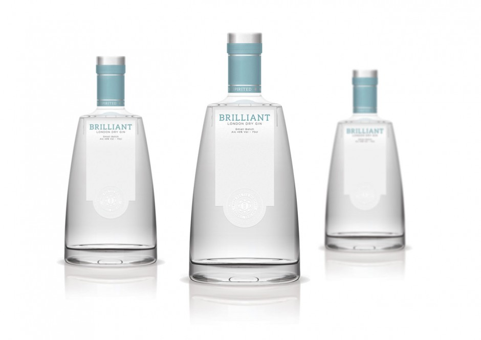 Brilliant Gin bottles