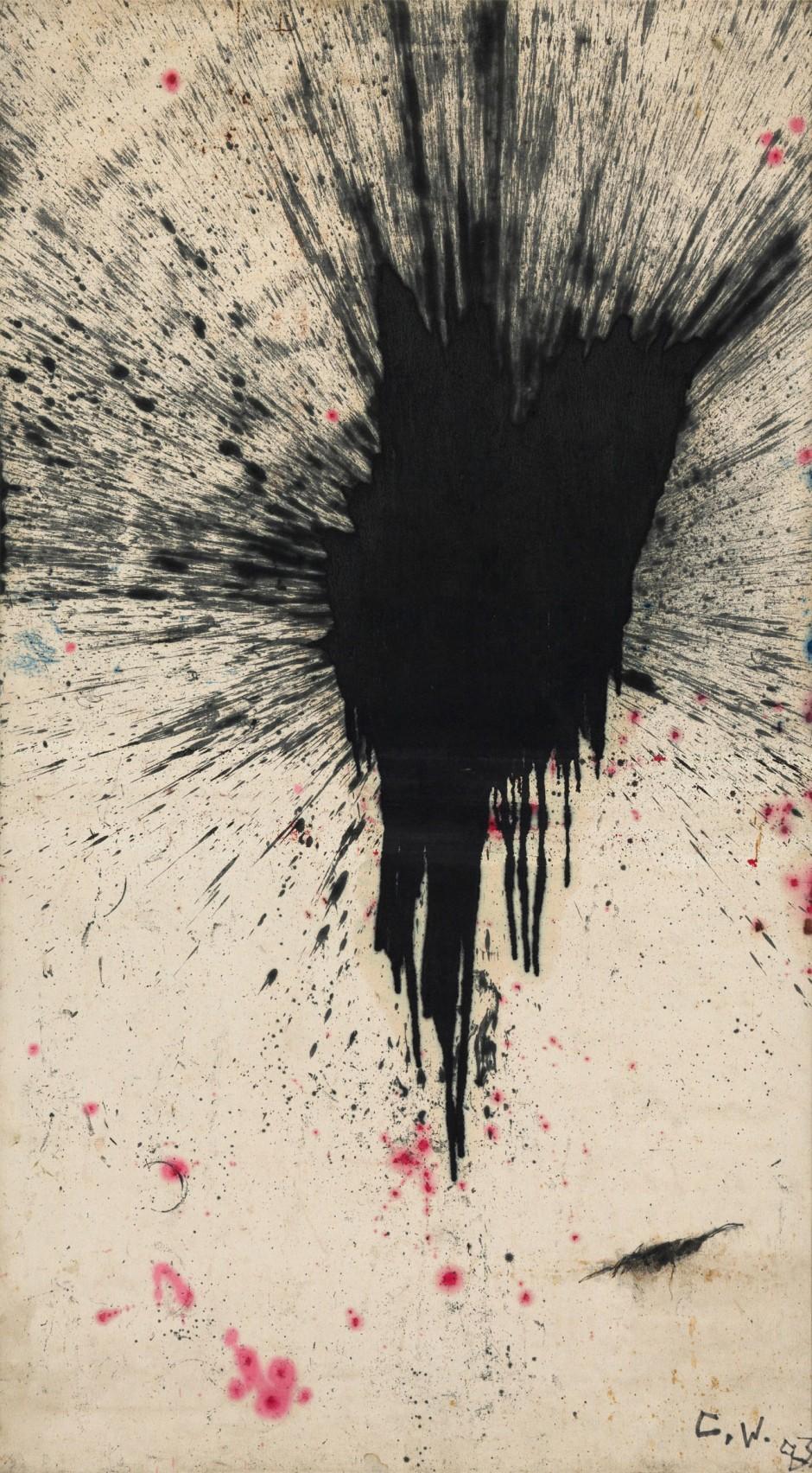 ZHANG Wei, »AB17«, 1983, Öl auf Leinwand, 203,5 x 113 cm