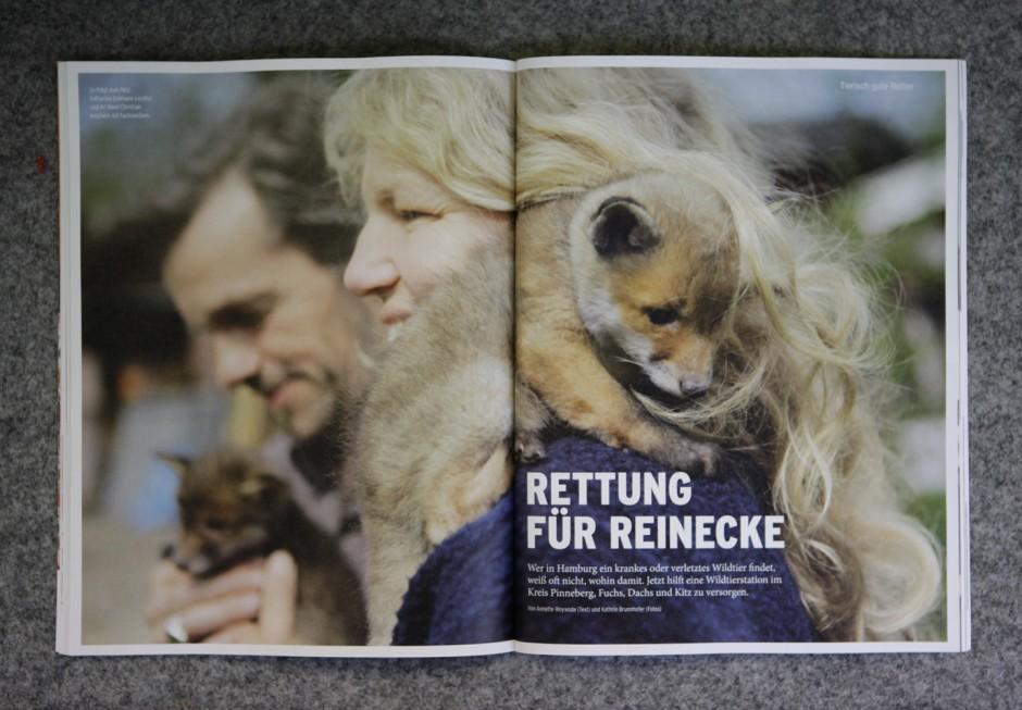 Rettung für Reineke - Reportage über die Wildtierstation Hamburg/ Schleswig Holstein für das Hinz und Kunzt Magazin Sonderheft TIERE