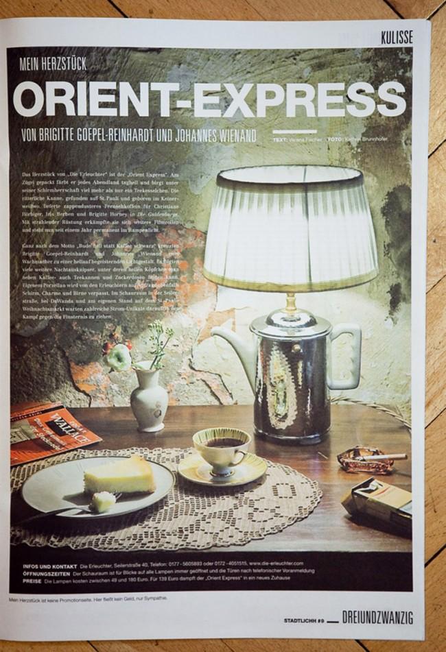 ORIENT-EXPRESS -Still für dasHamburger STADTLICHH Magazin