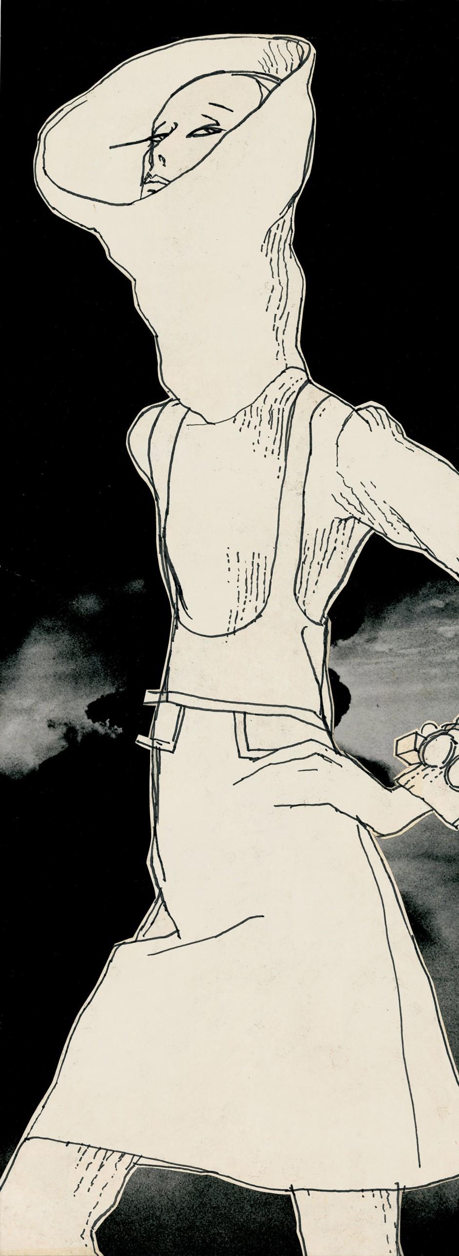 Antonio, Ohne Titel, 1967, veröffentlicht in The New York Times Magazine, Tuschfeder und Collage, 61 x 30 cm