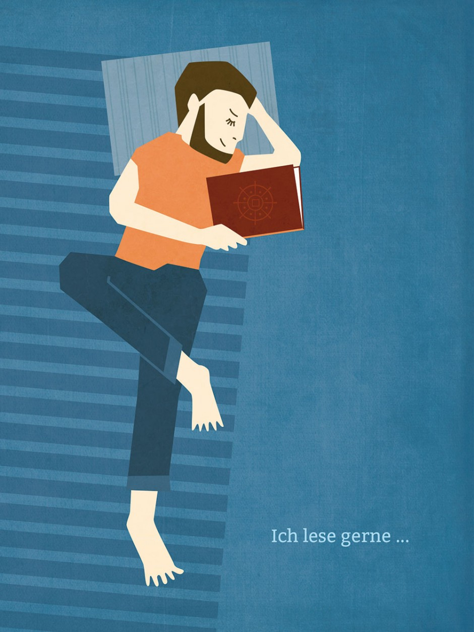Motiv aus der Bilderreihe »Ich lese gerne …«, kleine Ausstellung zum Anlass der Woche unabhängiger Buchhandlungen bei Baskerville Büchhandlung, November 2014