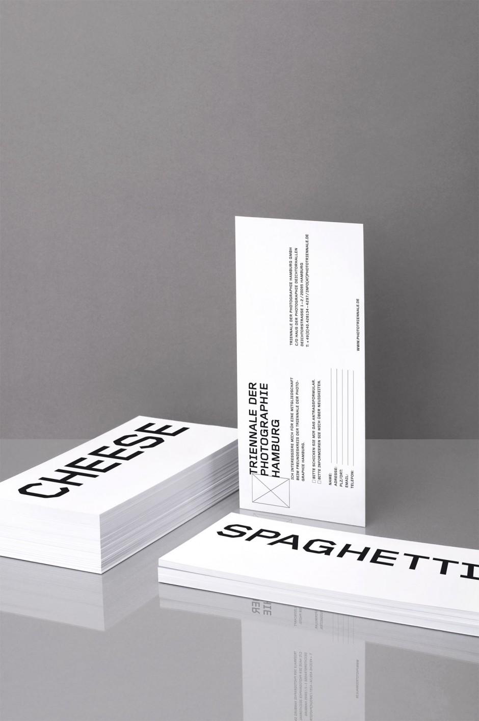 Triennale der Photographie Hamburg – Korrespondenzkarte