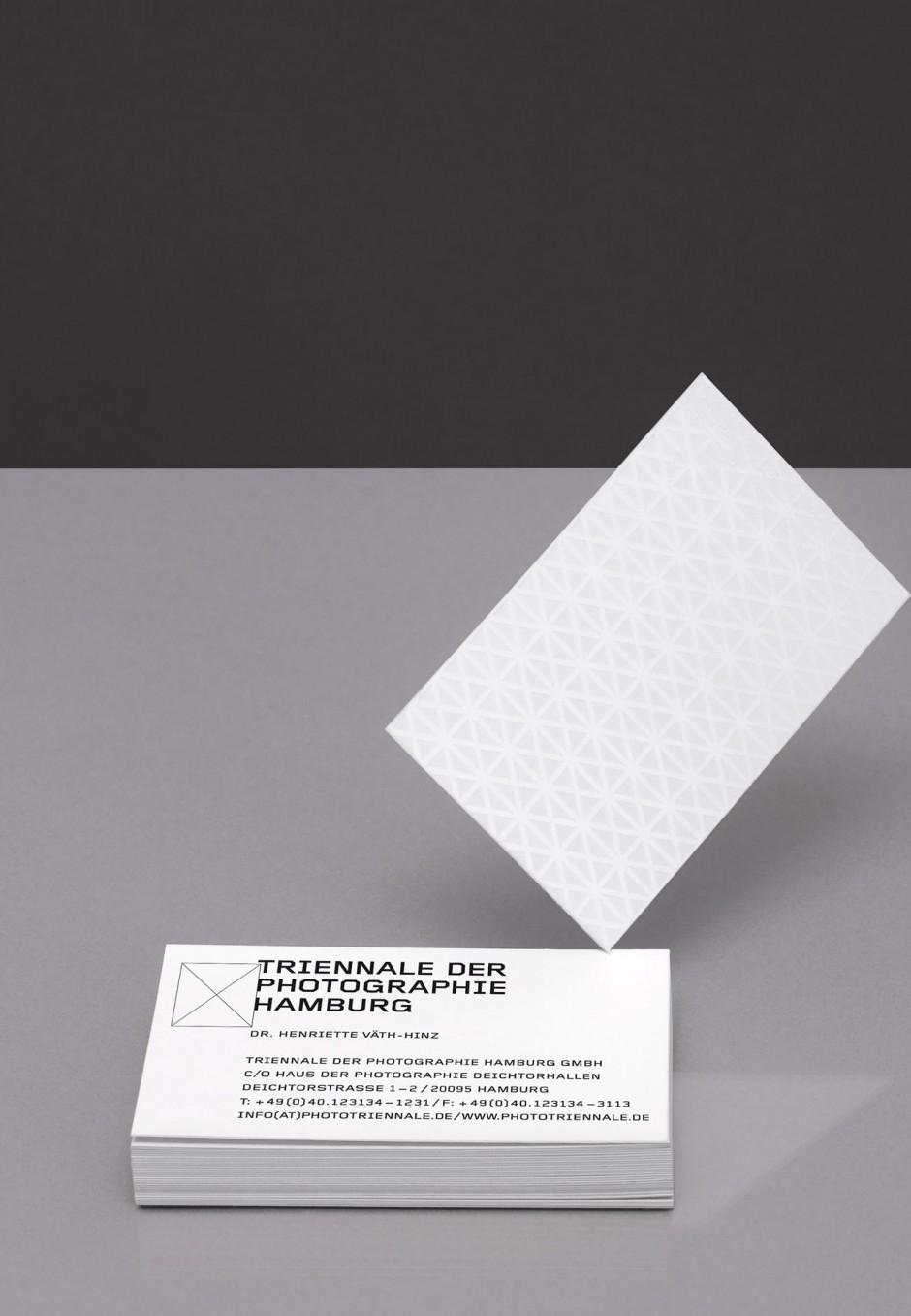 Triennale der Photographie Hamburg – Visitenkarte