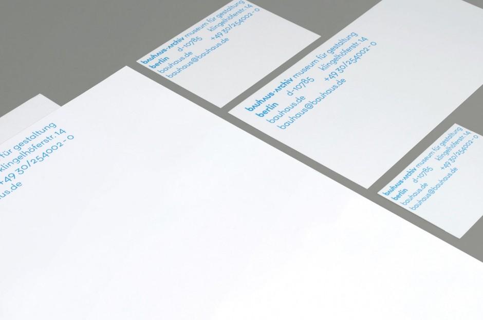 bauhaus-archiv – Geschäftspapiere