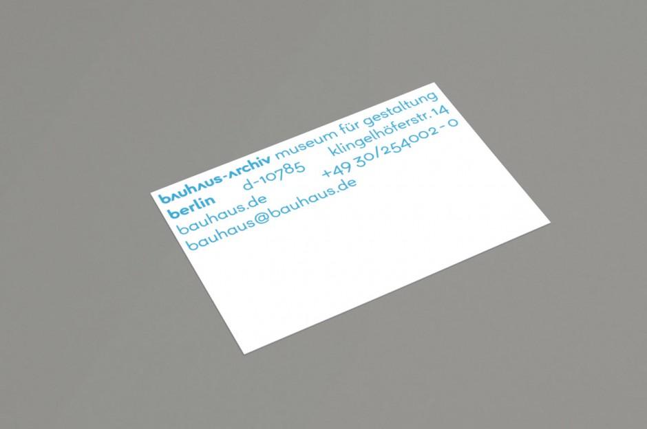 bauhaus-archiv – Visitenkarte