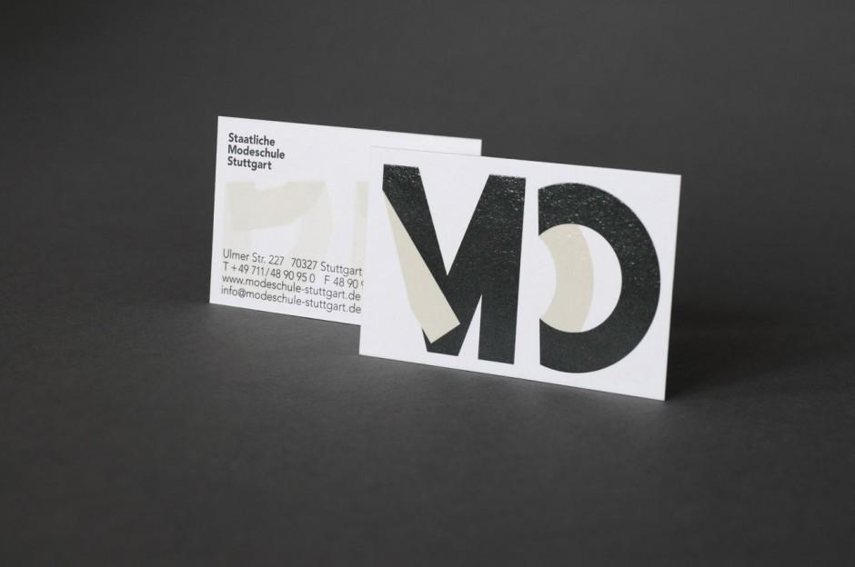 Staatliche Modeschule Stuttgart – Visitenkarte vorne & hinten