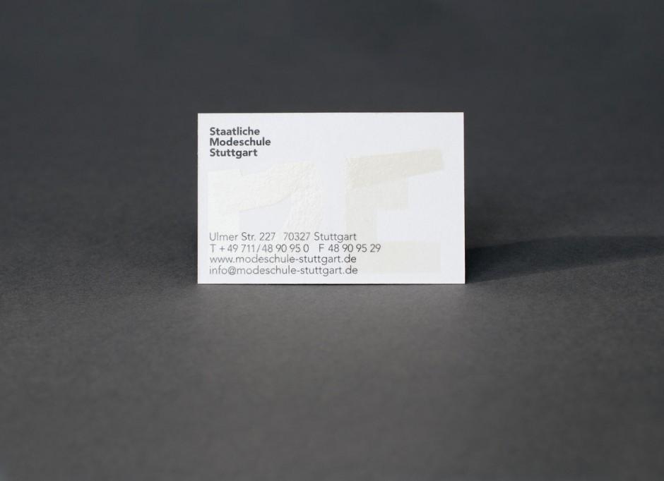 Staatliche Modeschule Stuttgart – Visitenkarte hinten