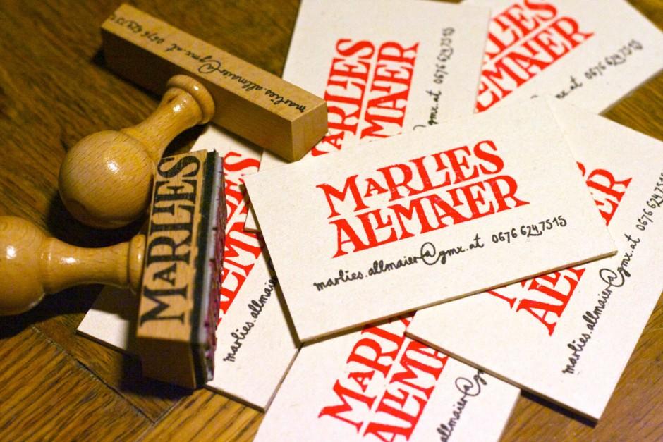 Marlies Allmaier – Visitenkarten