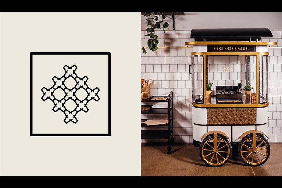 Modernes Corporate Design für einen orientalischen Imbiss