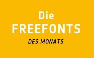 Freefont-des-Monats